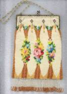 Art Deco Floral Beaded Purse