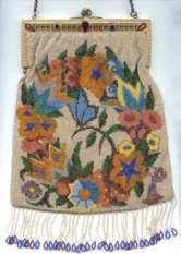 Figural Butterfly Beaded Purse