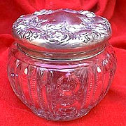 Sterling Topped Powder Jar
