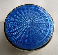 Blue Enamel Guilloche Patch Box