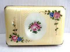 Enamel Guilloche Cigarette Case