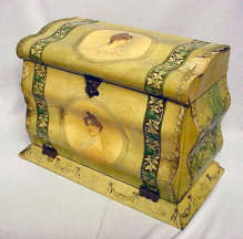 Celluloid Dresser Box with Contents