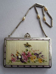 Butterfly Enamel Guilloche Vanity Purse