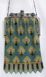 Jeweled Mesh Purse