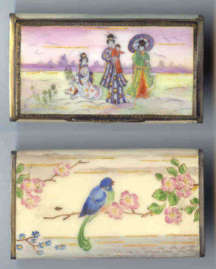 Hand-painted Figural Vanity Case