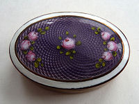 Purple Enamel Guilloche Patch Box