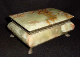 Onyx Jewelry Casket with Claw Feet