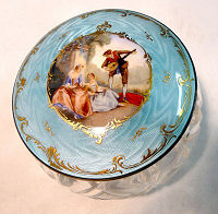 Figural Enamel Guilloche Powder Jar
